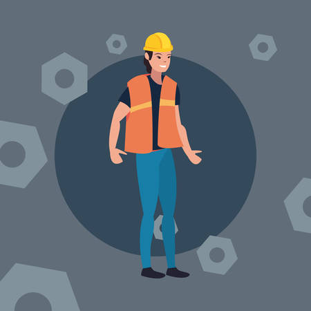 worker woman employee labour day vector illustration 일러스트