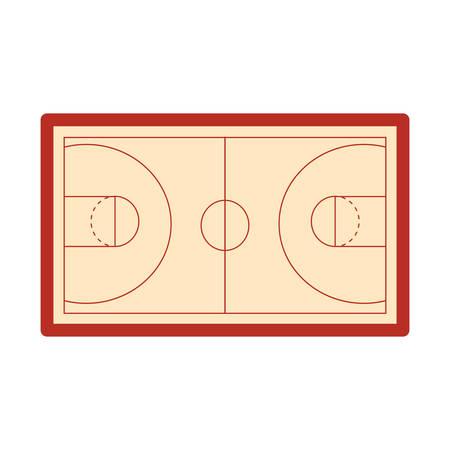 basketball  court floor vector illustration Foto de archivo - 129240845