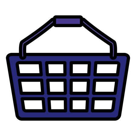shopping basket isolated icon vector illustration design Иллюстрация