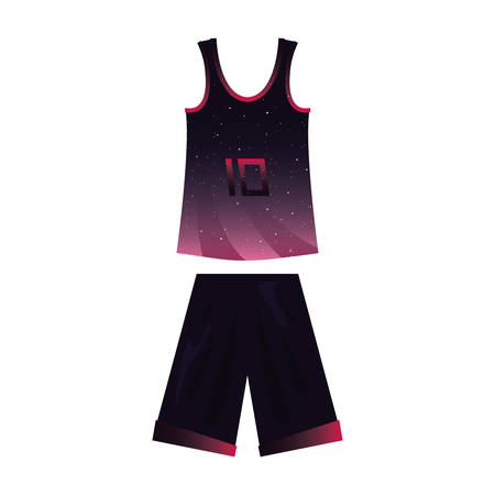 basketball uniform sport jersey shorts vector illustration Foto de archivo - 129253390