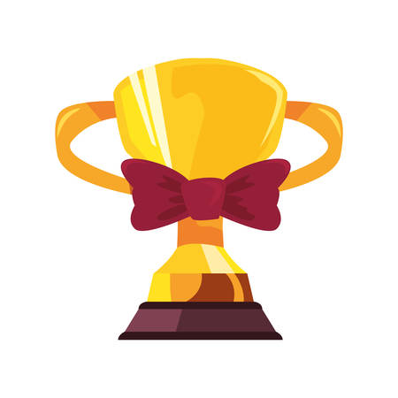 award trophy bow tie happy fathers day vector illustration Иллюстрация