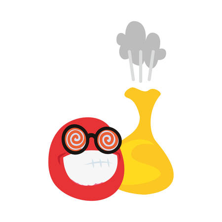 emoji cushion humor april fools vector illustration Standard-Bild - 129253808