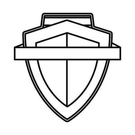 shield ribbon banner emblem template vector illustration design