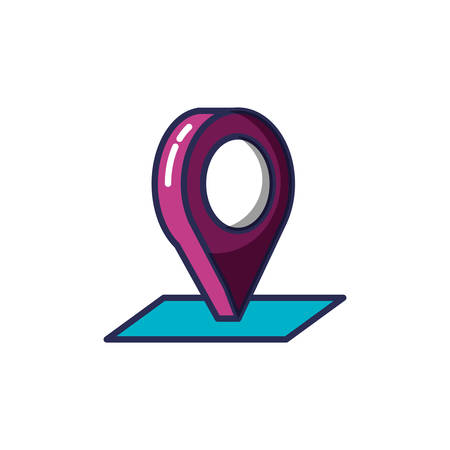 pin pointer location icon vector illustration design Foto de archivo - 129254332