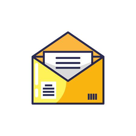 envelope mail open isolated icon vector illustration design 版權商用圖片 - 129254713