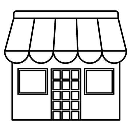 store building facade icon vector illustration design Stock Illustratie