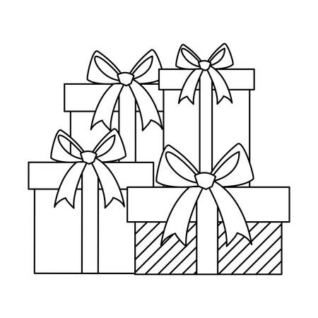gifts boxes presents icon vector illustration design Stockfoto - 129254732