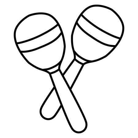 maracas instrument musical icon vector illustration design Foto de archivo - 129285660