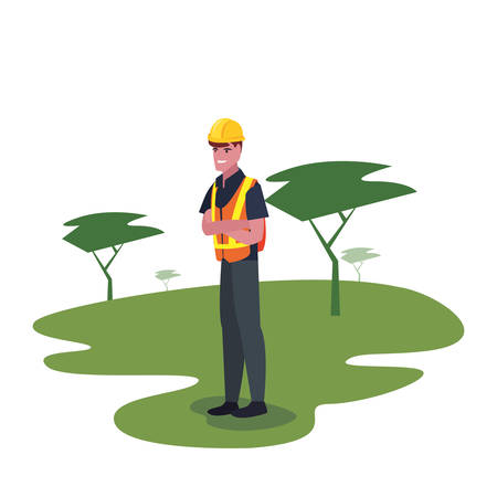 worker employee profession labour day vector illustration Иллюстрация
