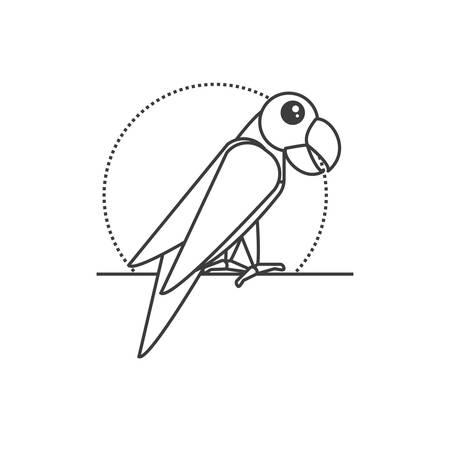 parrot bird animal isolated icon vector illustration design