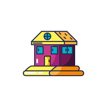 house facade isolated icon vector illustration design Illusztráció