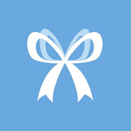 elegant bow ribbon icon vector illustration design