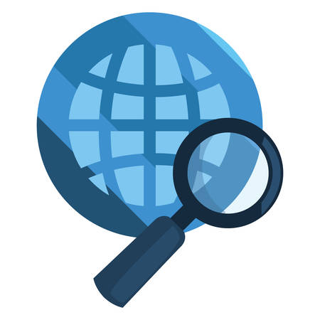 world analysis cybersecurity data protection vector illustration