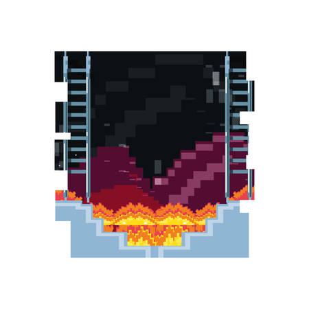 video game pixelate scene vector illustration design Ilustracja