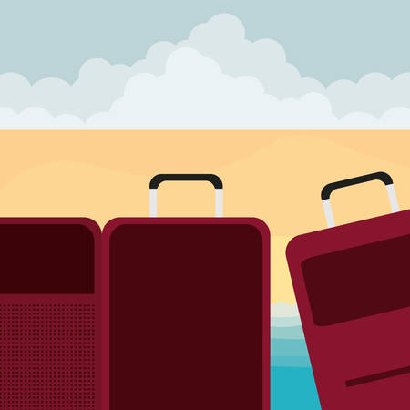 suitcases travel vacations icons vector illustration design Фото со стока - 129336410