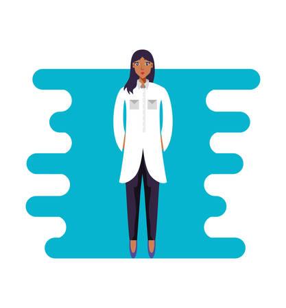 doctor female professional avatar character vector illustration design