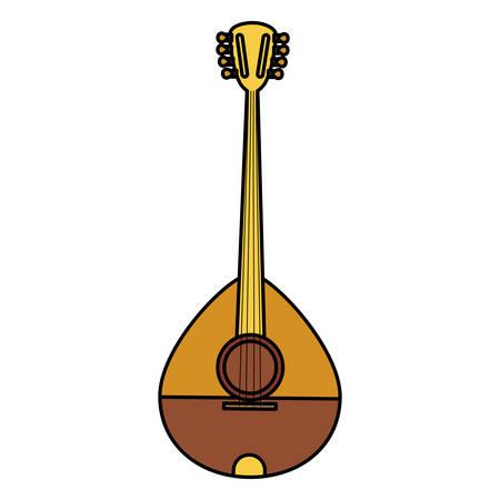 buzuki instrument isolated icon vector illustration design Illustration