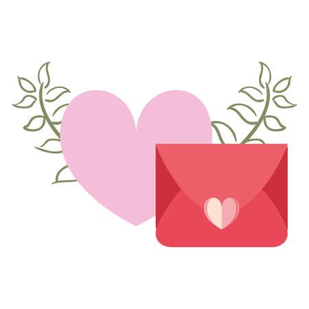 mail message love heart vector illustration design