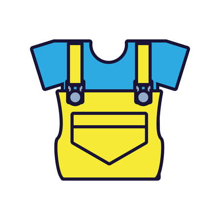 overall uniform construction isolated icon vector illustration design  イラスト・ベクター素材