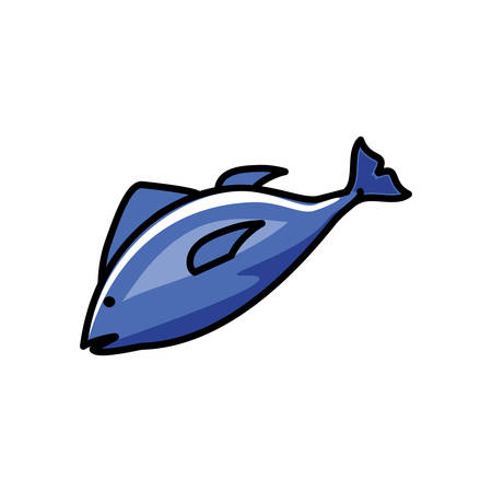 fresh fish food icon vector illustration design