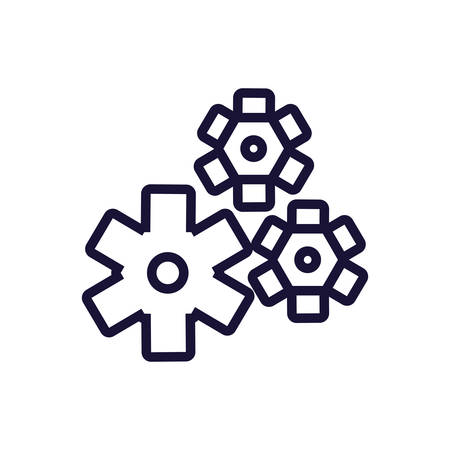 gears pinions machine isolated icon vector illustration design 向量圖像