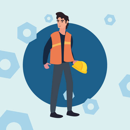 worker employee profession labour day vector illustration Stock Illustratie