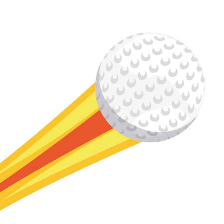 flying golf ball sport vector illustration design Illusztráció