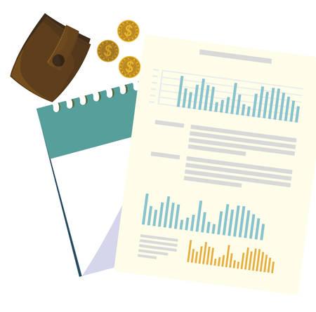 office supplies with calendar items vector illustration design 일러스트