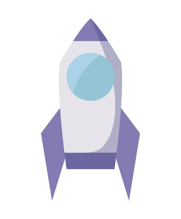 launch rocket isolated icon vector illustration design
