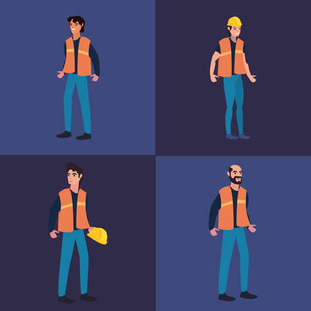 people group talk labour day vector illustration