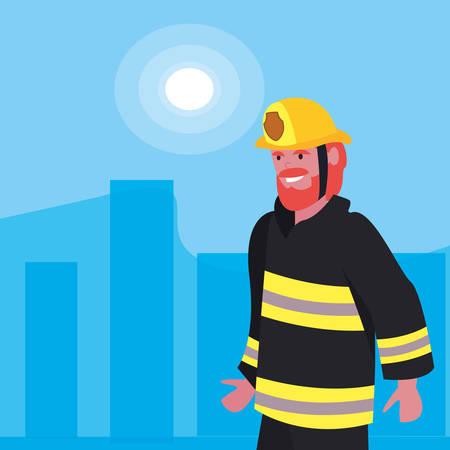 Fireman profession labor day