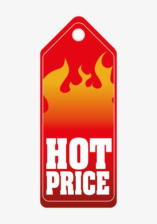 hot sale design over white background, vector illustration Ilustrace