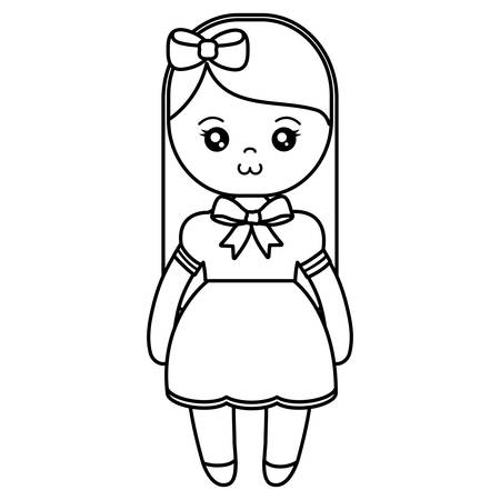 cute and little girl character vector illustration design  イラスト・ベクター素材