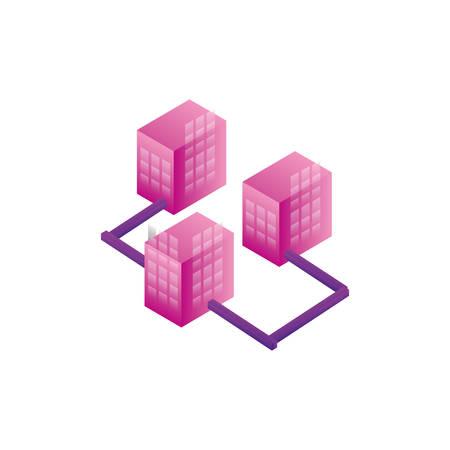 servers network data center vector illustration design