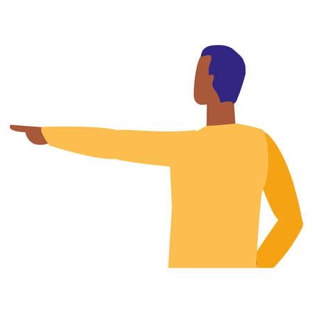 young and casual black man character vector illustration design Illusztráció