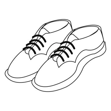 men shoes footwear elegance on white background vector illustration Illustration