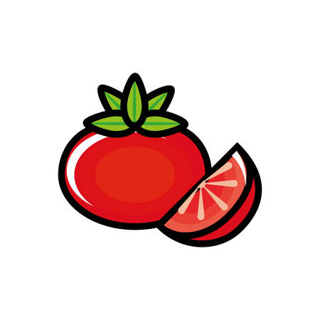 fresh tomato vegetable icon vector illustration design Illustration