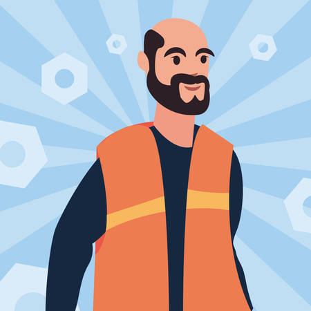 worker employee profession labour day vector illustration 일러스트