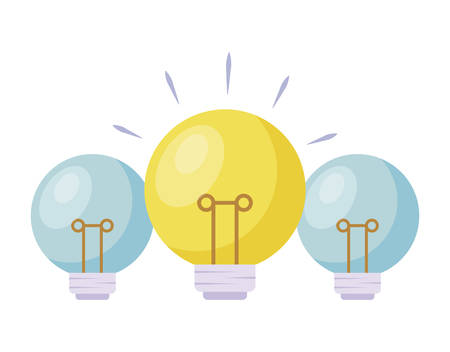 set of light bulbs isolated icon vector illustration design Imagens - 129342478