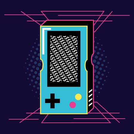 video game hand of nineties retro vector illustration design
