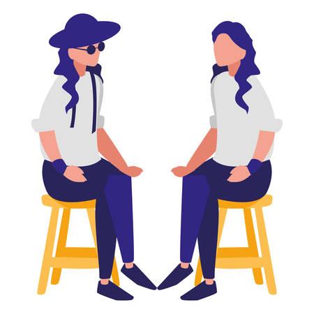 couple of musicians characters vector illustration design Foto de archivo - 129423072