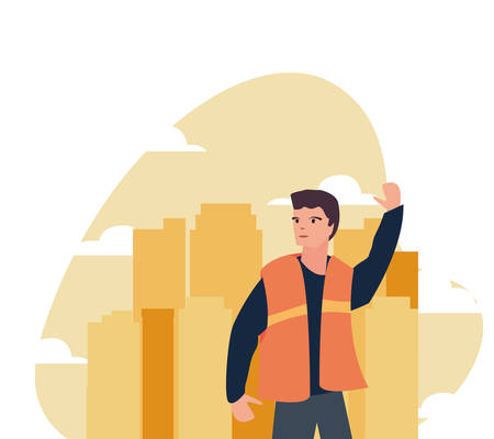 worker employee profession labour day vector illustration Ilustrace