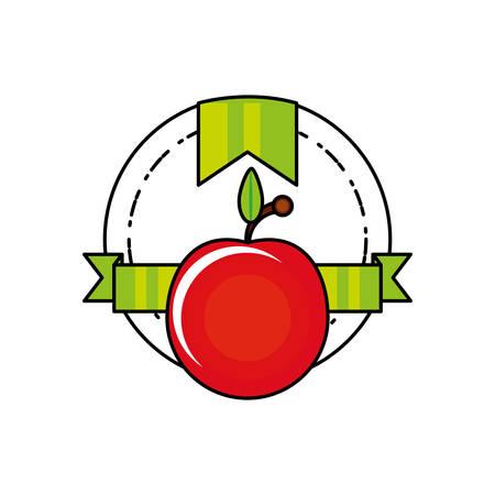 fresh tomato vegetable seal stamp vector illustration design Иллюстрация
