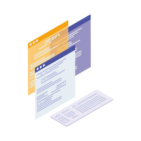 webpage templates isolated icons vector illustration design