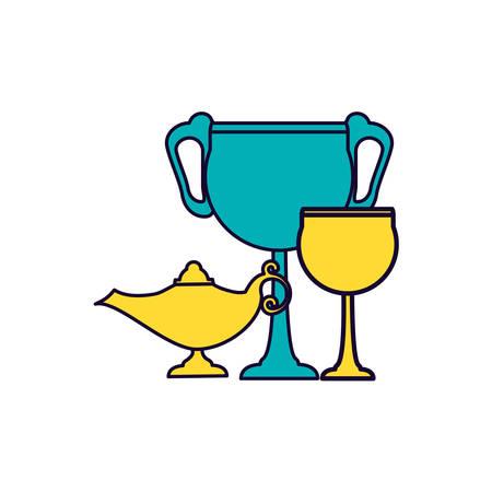 teapot lamp with chalice ramadan kareem vector illustration design 写真素材 - 129428412