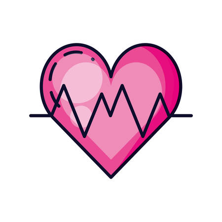 heart with rate isolated icon vector illustration design Ilustrace