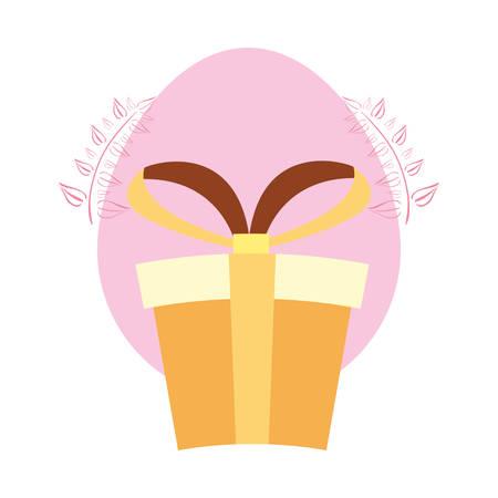 gift box surprise on white background vector illustration