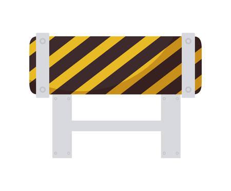 barricade signaling isolated icon vector illustration design