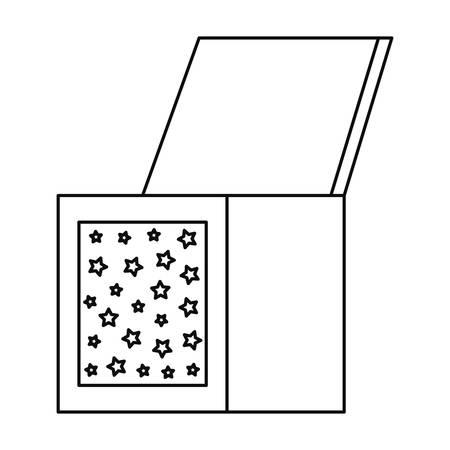 wooden box decoration on white background vector illustration