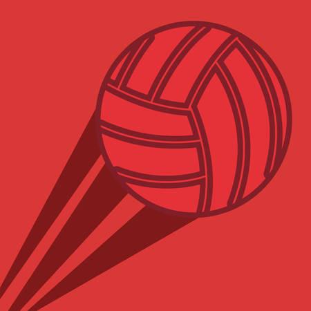 flying volleyball sport vector illustration design